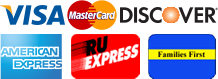 Visa, MasterCard, Discover, American Express, NJ Families First